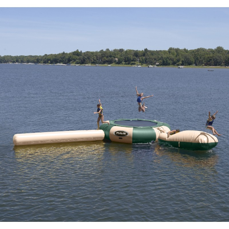 Aqua Jump Eclipse150 Northwood's Water Trampoline 15 feet Diameter with Launch and Log