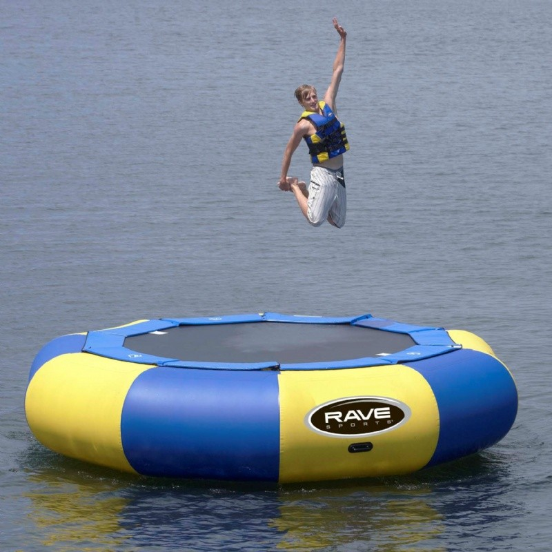 Lake Trampolines, Bouncers, Rafts: Aqua Jump Eclipse150 Water Trampoline