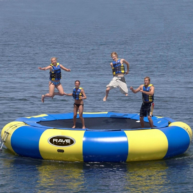 Lake Trampolines, Bouncers, Rafts: Aqua Jump Eclipse 200 Water Trampoline
