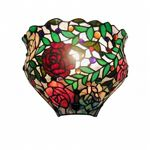 Tiffany-style Red Rose Wall Sconce 2158-WALL-LAMP