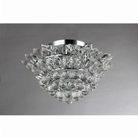 Queen 4-Light Chrome Crystal Pendant RL1034