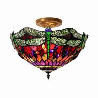 Tiffany Style Dragonfly Ceiling Lamp 305C-SF10