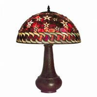 Tiffany Style Red Star Table Lamp BB59-PS231