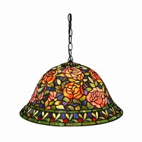 Tiffany Style Southern Belle Rose Hanging Lamp ES-93