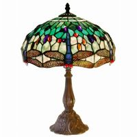 Tiffany Style White Dragonfly Table Lamp KS37GS-MB06
