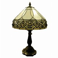 Tiffany-style White Jewels Table Lamp 1150-MB06S-GG
