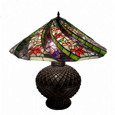 Tiffany Style 3D Twisted Table Lamp 1685-BB467