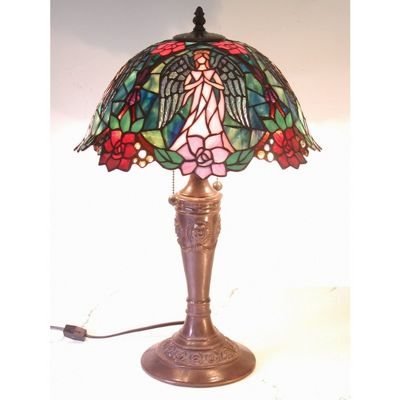 Tiffany Style Angel Table Lamp 2856-BB656