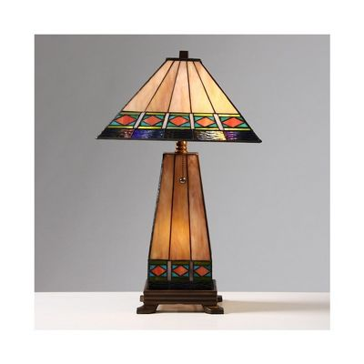 Tiffany Style Mission Style Lighted Base Table Lamp T20014TIRA