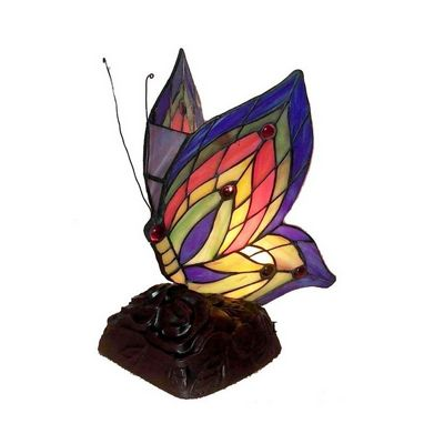 Tiffany Style Yellow Butterfly Accent Lamp TN09218-D213