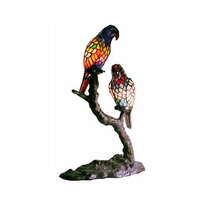 Tiffany-style Exotic Birds Accent Lamp 1600X2-BB449