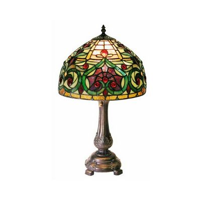 Tiffany-style Jeweled Petite Table Lamp 1669-MB163