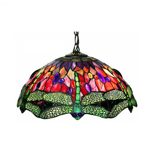 Tiffany Style Dragonfly Red Hanging Lamp 305C-HANGING
