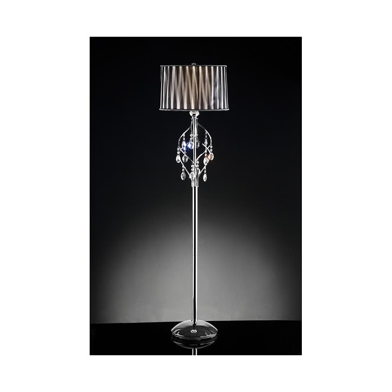 Minerva Crystal Floor Lamp