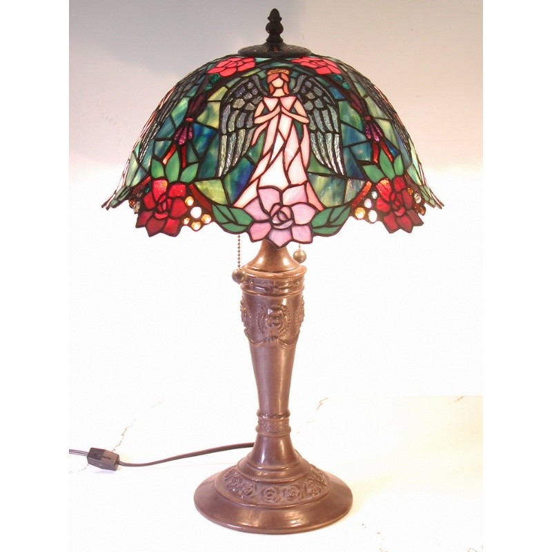 Tiffany Style Angel Table Lamp