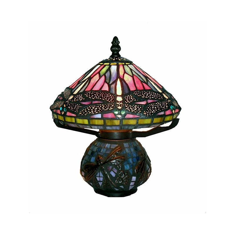 Lighting: Classic Table Lamps: Tiffany Style Dragonfly Mozaic Table Lamp