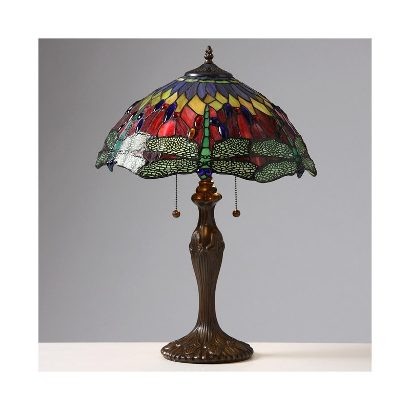 Lighting: Classic Table Lamps: Tiffany Style Dragonfly Table Lamp