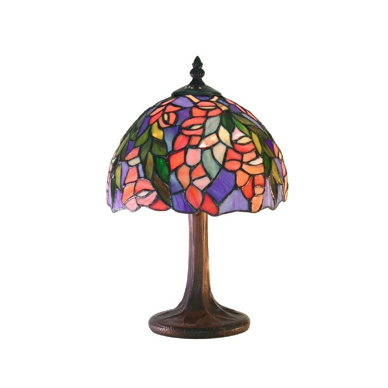 Lighting: Classic Table Lamps: Tiffany Style Floral Table Lamp