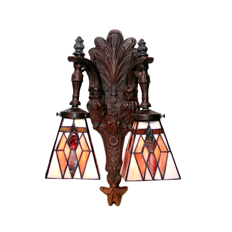 Tiffany-style Double Wall Sconce : Wall Sconces