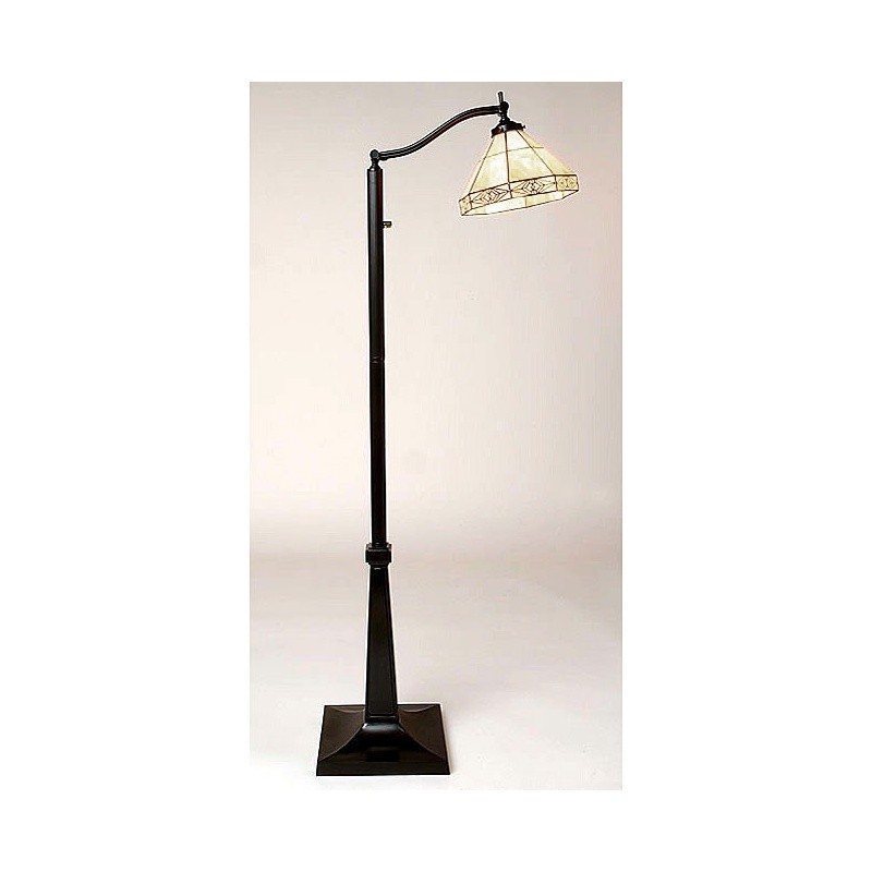 tiffany style mission reading floor lamp. Black Bedroom Furniture Sets. Home Design Ideas