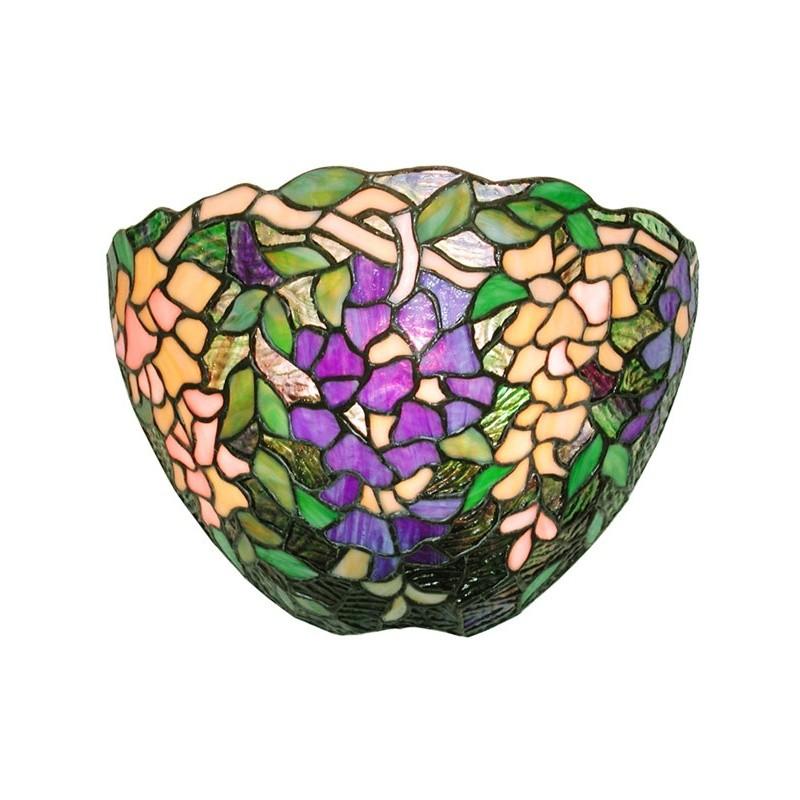Small Tiffany Wall Sconces: Tiffany-style Wisteria Wall Lamp