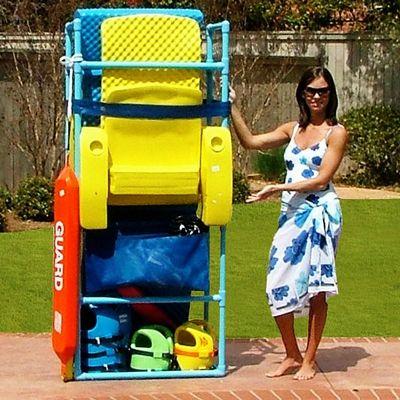 Pool pantry pool float storage ss8080100 reviews cozydays for Swimming pool float storage rack