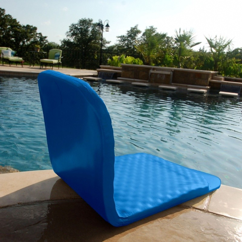 Aqua Leisure Recliner Fabric Comfort Lounge Floating Pool Chair: Folding Poolside Chair