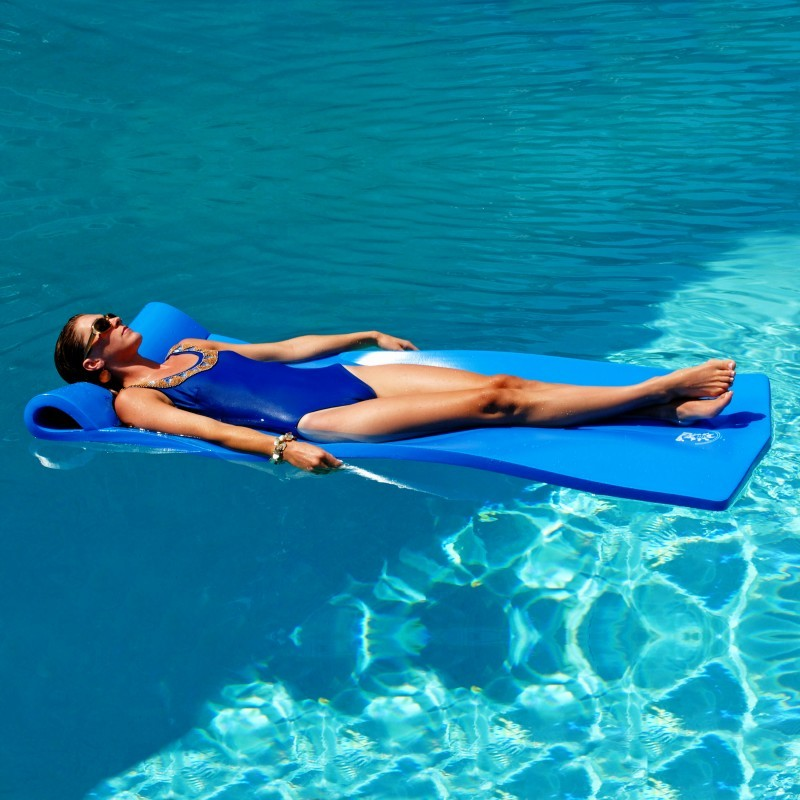 Cloth Covered Pool Floats: Sunray Blue Foam Pool Float