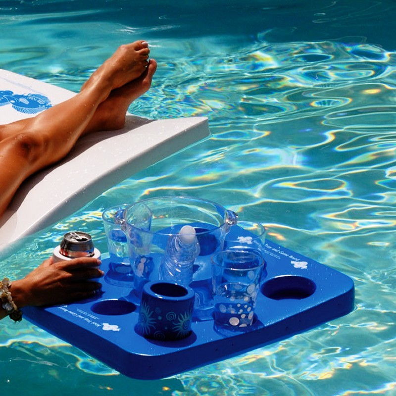 White Pool Floats: Floating Refreshments Tray