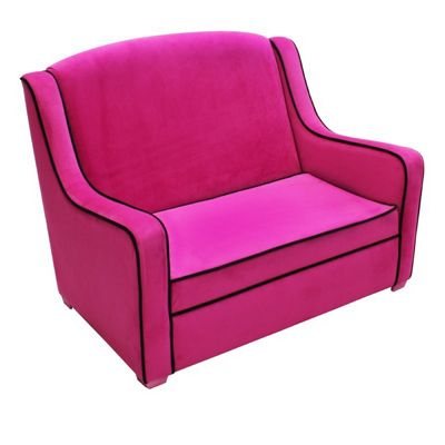 tween camille sofa hot pink black 96003 cozydays