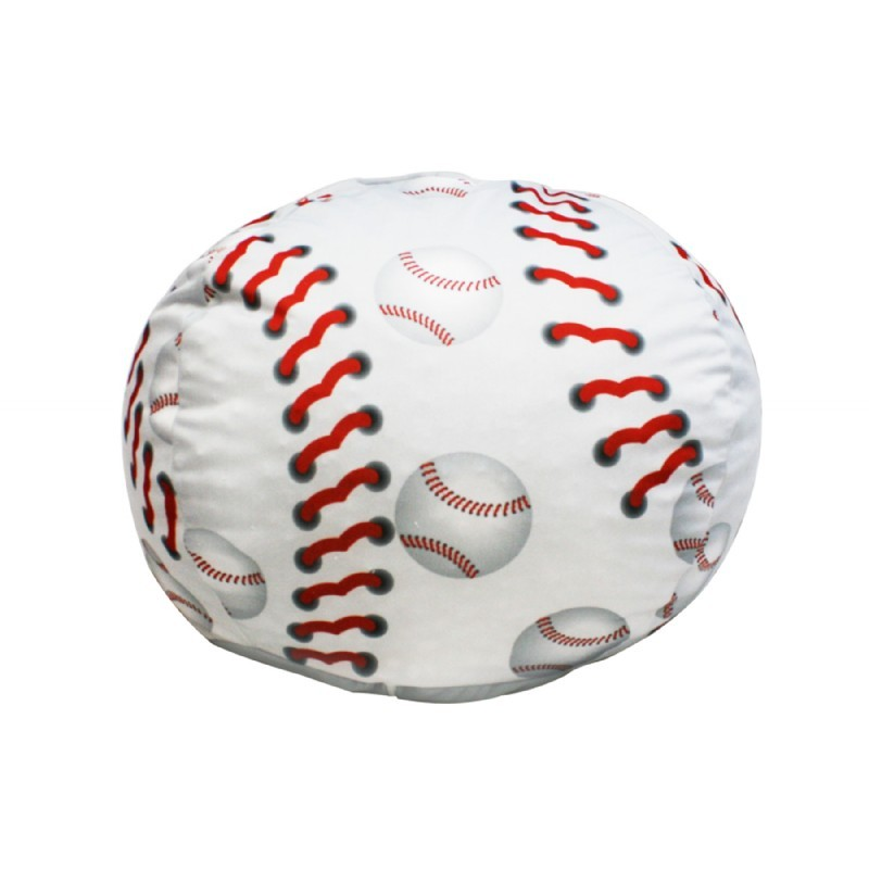Furniture: Kids Bean Bags: Baseball Bean Bag