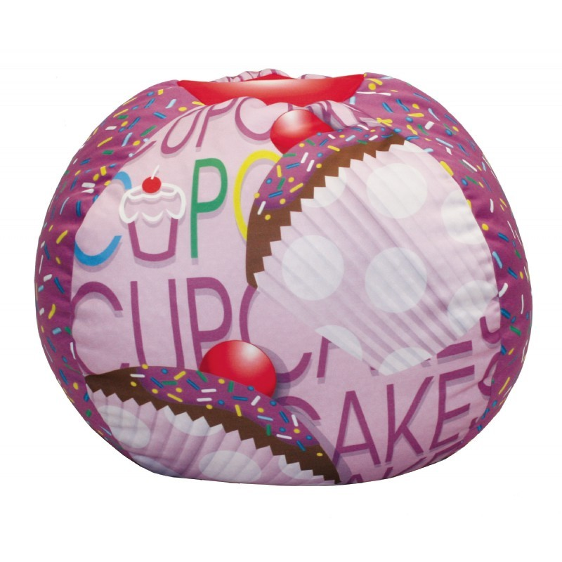 Cup Cake Collection Lavender Bean Bag : Kids Bean Bags