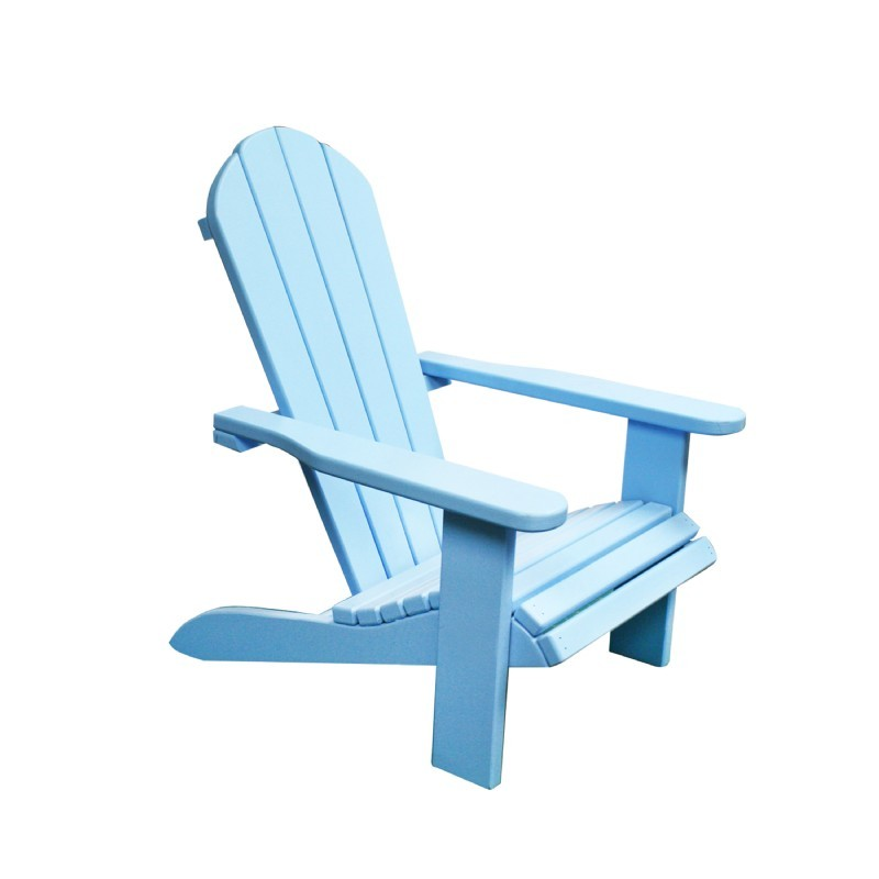Kids Wooden Outdoor Chair - Blue : Adirondack Chairs