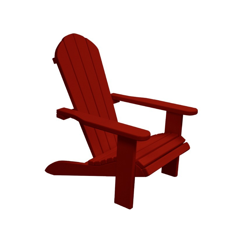 Kids Wooden Outdoor Chair - Bright Red : Adirondack Chairs