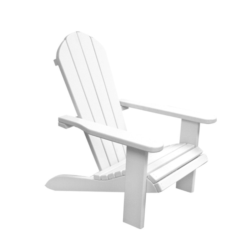 Kids Wooden Outdoor Chair - White