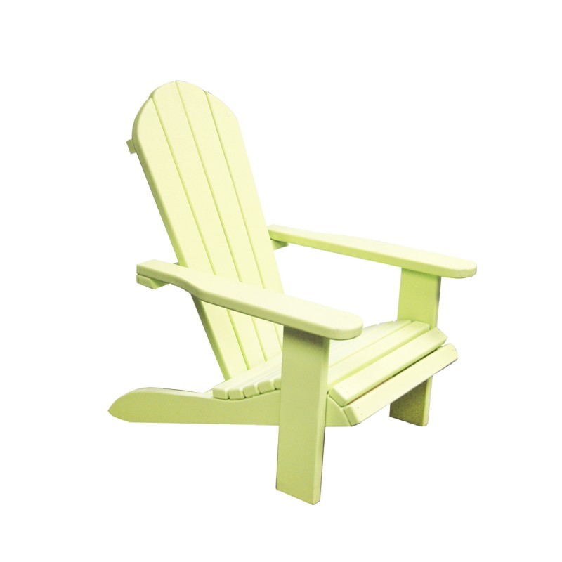 Kids Wooden Outdoor Chair - Yellow : Adirondack Chairs
