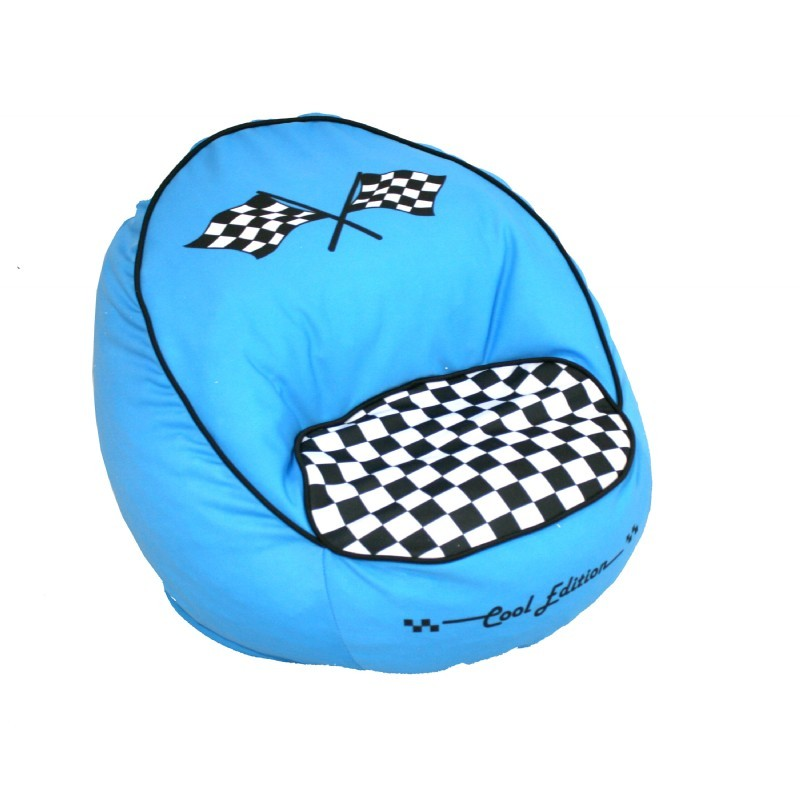Race Car Bean Chair Blue : Kids Bean Bags