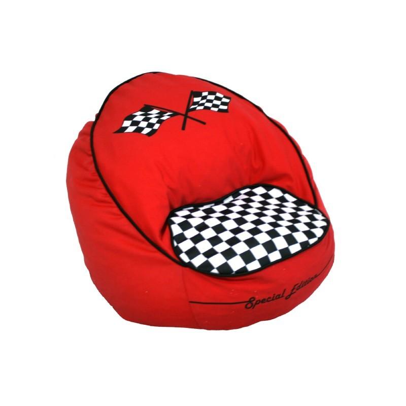 Race Car Bean Chair Red