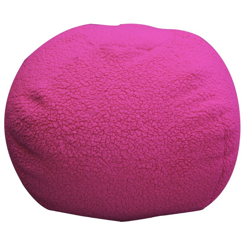 Sherpa Hot Pink Bean Bag : Kids Bean Bags