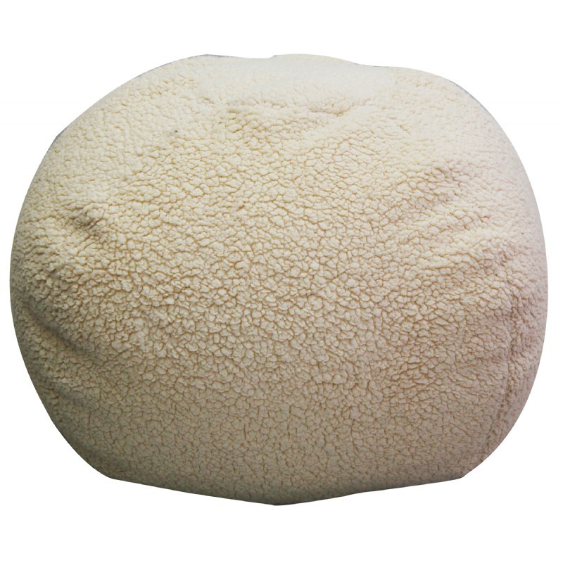 Sherpa Ivory Bean Bag : Kids Bean Bags