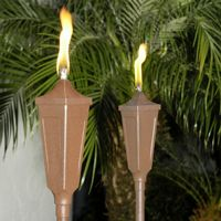 Outdoor tiki torches & oil lamps
