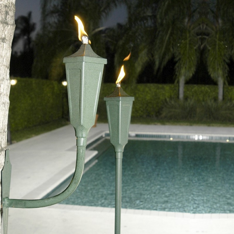 Large Capacity Burning Oil Lamp: Sconce Garden Torches 2-Pack