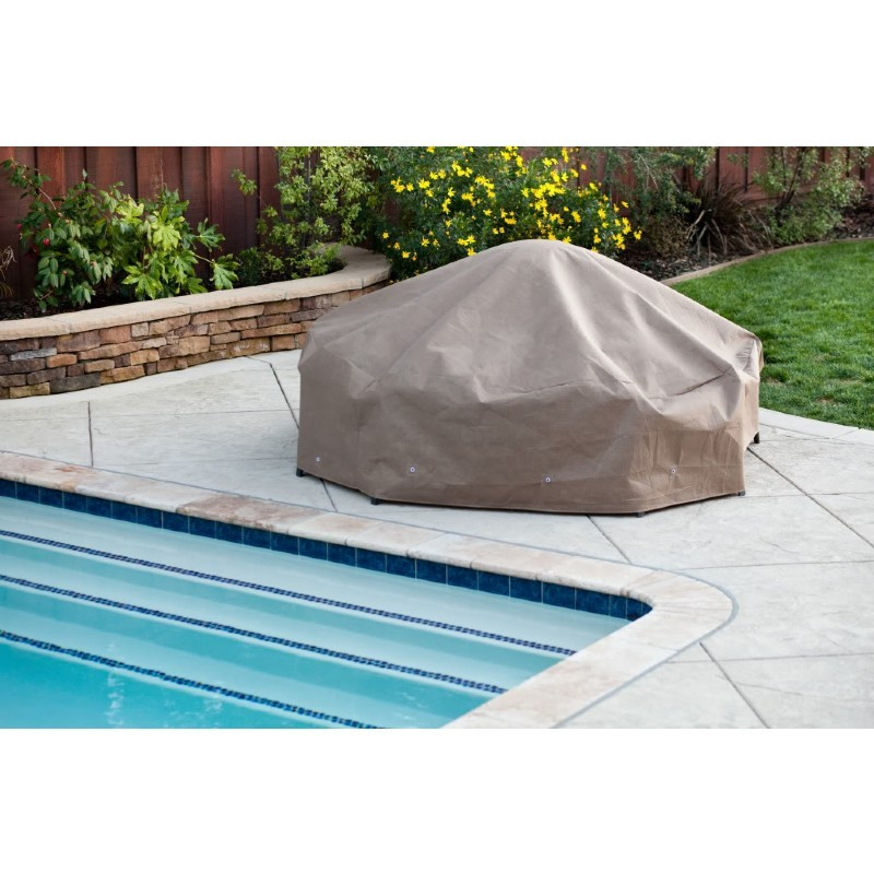 "Duck Covers Patio Chat Table & Chair Set Cover - 92""Dia × 29""H"