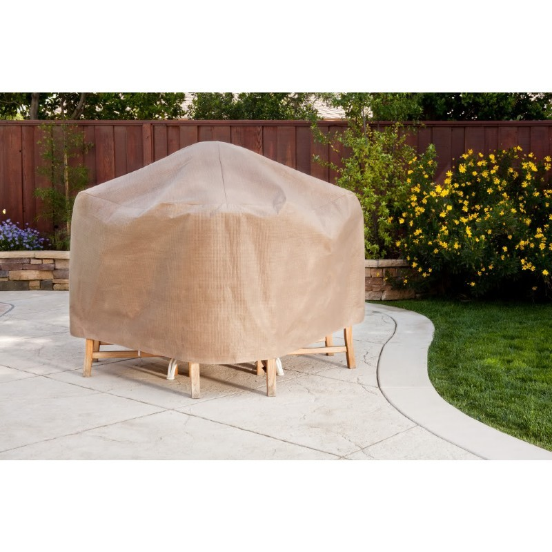 "Duck Covers Patio Table & Chair Set Cover - Rectangle - 109""L × 84""W × 29""H"