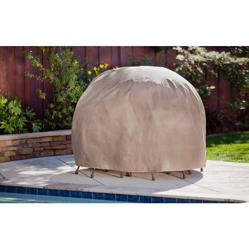 "Duck Covers Patio Table & Chair Set Cover - Round - 90""Dia × 29""H"