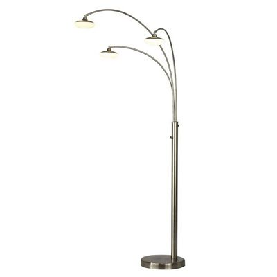 Glass 3 Light Arc Lamp 4242