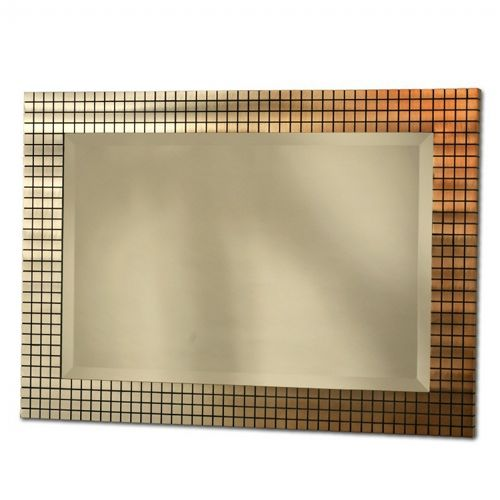 Bronze Grid Wall Mirror WM32442