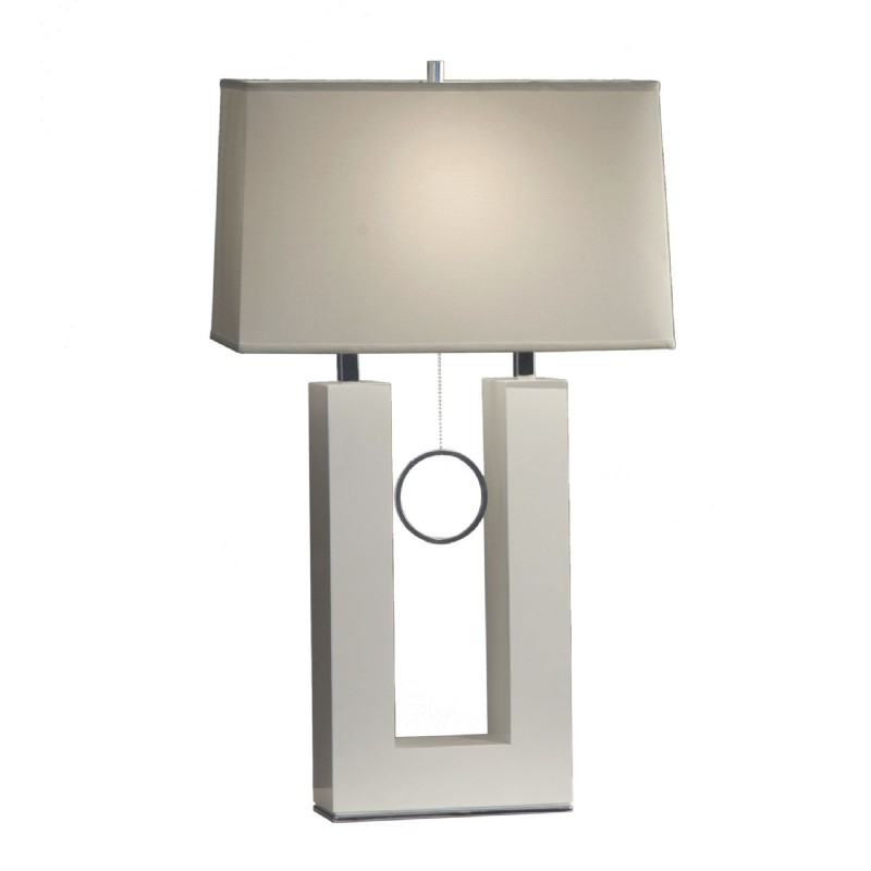 Earring Standing Table Lamp-White