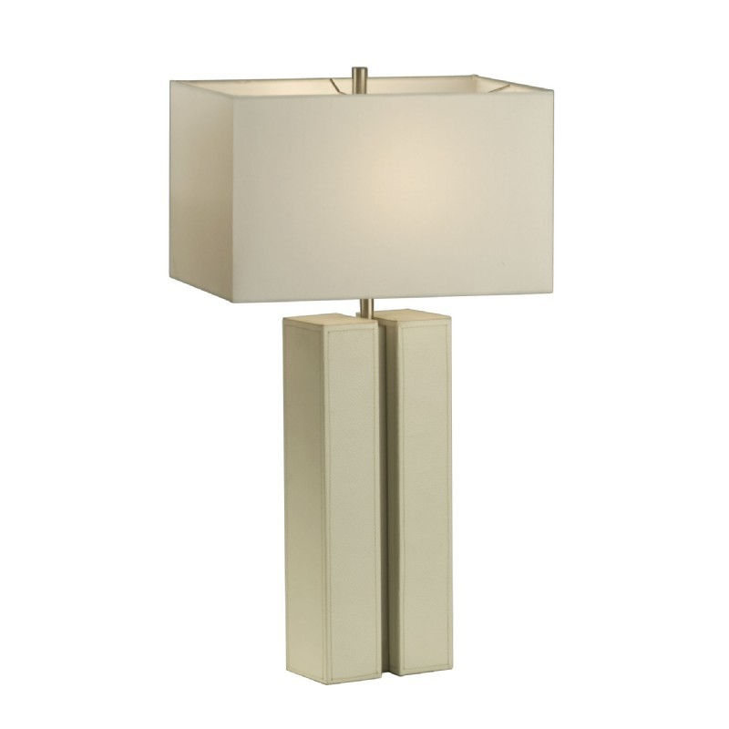Page Table Lamp White