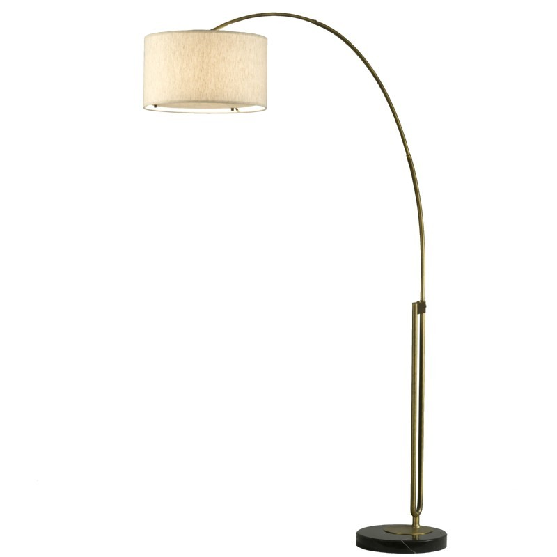 viborg arc lamp brass. Black Bedroom Furniture Sets. Home Design Ideas